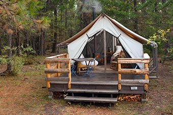 Redwing Wall Tent in Fall