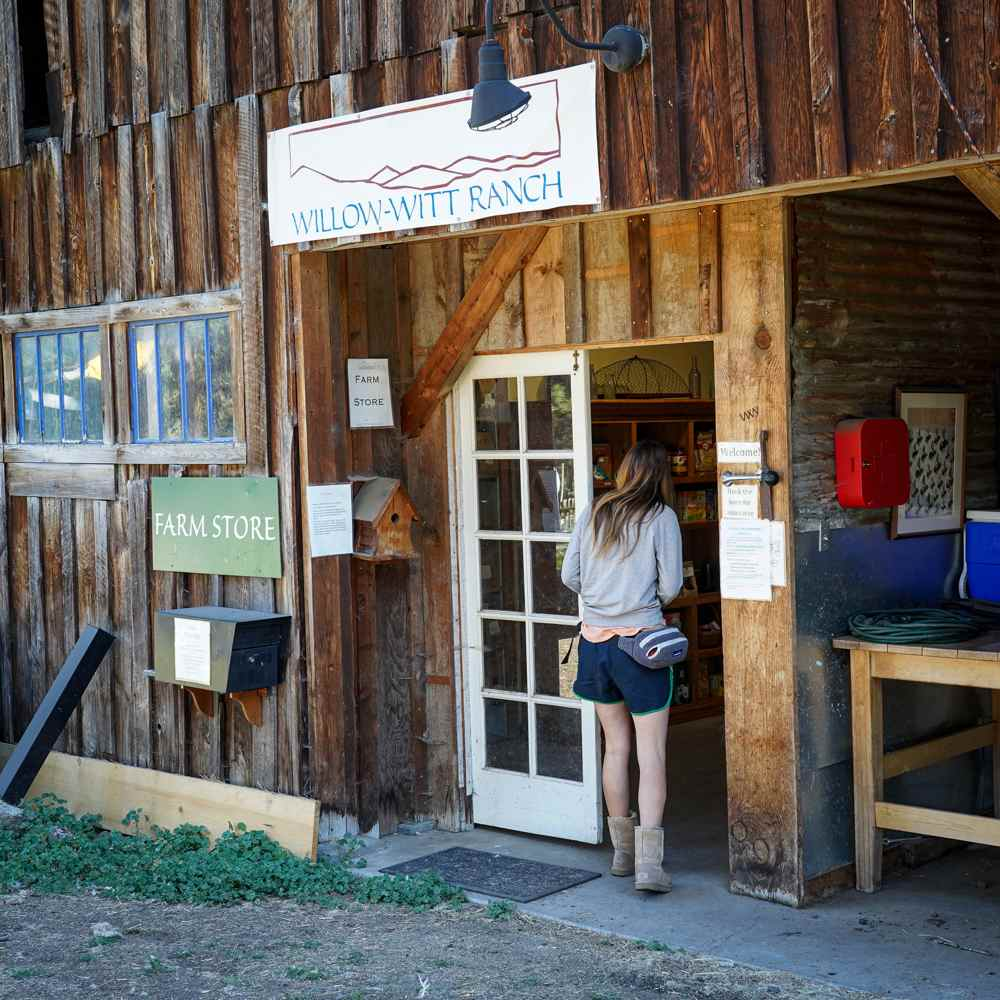 Farm Store at Willow-Witt Ranch offers certified organic farm fresh produce, goat milk, chicken eggs and more