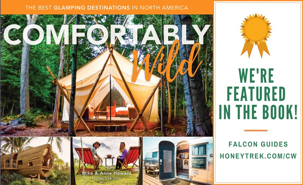 Willow-Witt Ranch featured in Comfortably Wild's glamping book