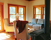 Meadow House farm stay vacation rental living room view